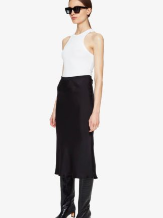 anine bing - bar silk skirt - hesmé