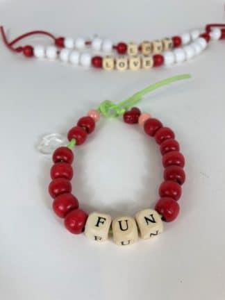 bracelet love beads bois - lauren rubinski - hesmé