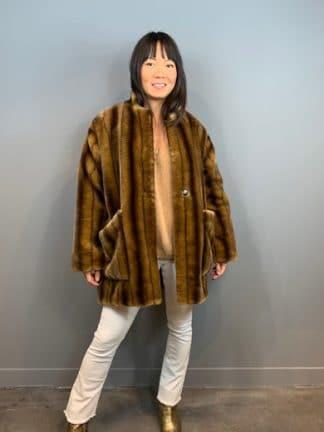manteau fausse fourrure - a point etc - hesmé