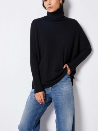 pull-poncho-col-roule-margareth - not shy - hesmé