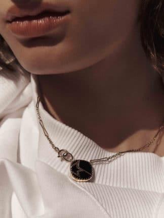 collier varda n°2 noir diamant - pascale monvoisin - hesmé