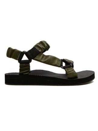 sandales trekky leather dark green - arizona love - hesmé