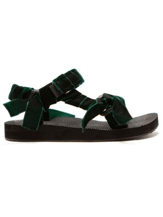 sandales trekky velvet green - arizona love - hesmé
