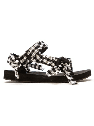 sandale trekky vichy noir et blanc-Arizona Love-Hesme
