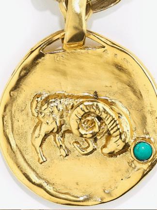 Collier Astro talisman bélier- goossens- hesmé