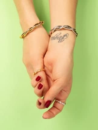 bracelet torsade argent- Magali Pont- hesmé