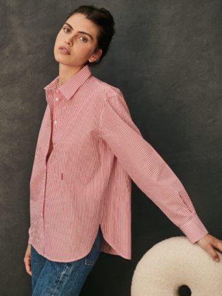 chemise esther à rayures rouges - sessei - hesmé