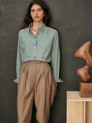 chemise esther à rayures vertes - sessei - hesmé
