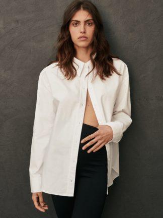 chemise kaia oversize blanche - sessei - hesmé