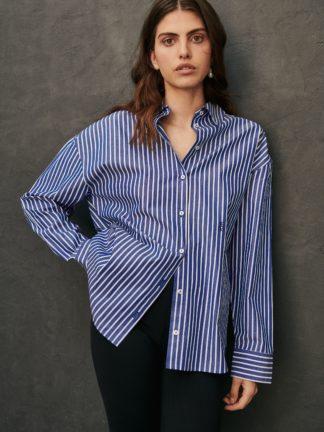 chemise kaia oversize à rayures - sessei - hesmé
