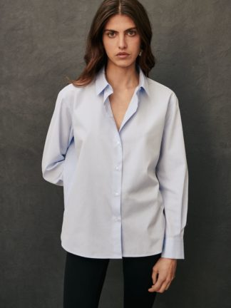 chemise esther bleu ciel - sessei - hesmé