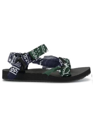 sandales trekky bandana kaki/navy - arizona love - hesmé