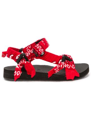 sandales trekky bandana rouge - arizona love - hesmé