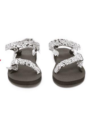sandales trekky bandana blanc - arizona love - hesmé