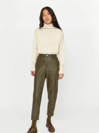 pantalon easy record cuir - roseanna - hesmé