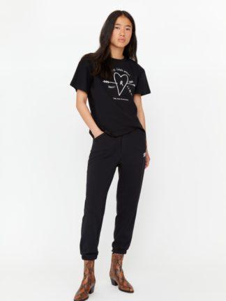 t-shirt never love jersey charbon - roseanna - hesmé