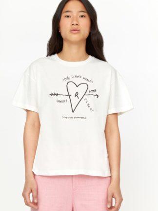 t-shirt never love jersey blanc lait - roseanna - hesmé